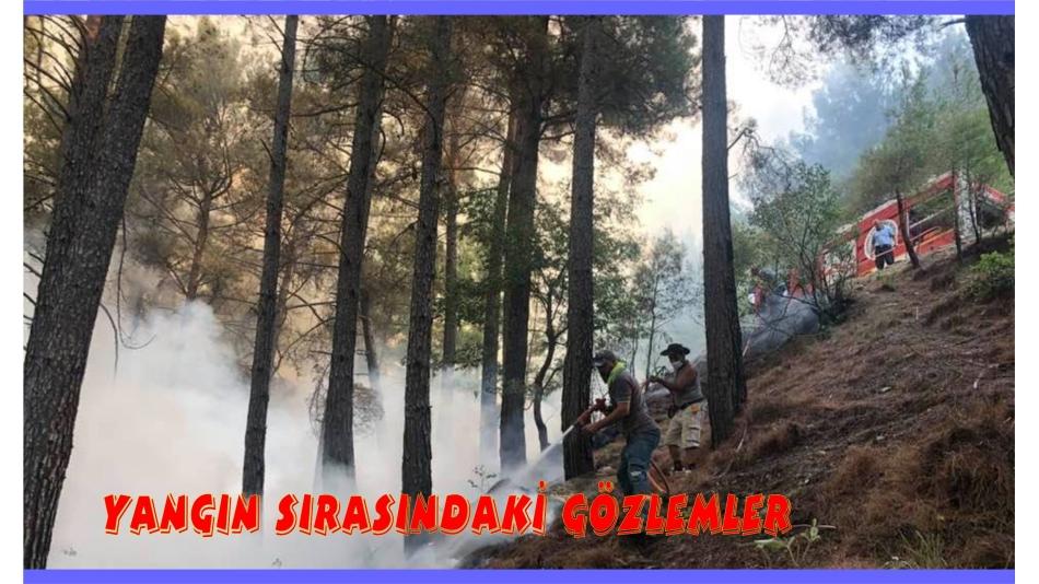 Yangın Sırasındaki Gözlemlerimiz (9)